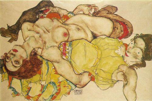 Egon Schiele - deux femmes - 1915