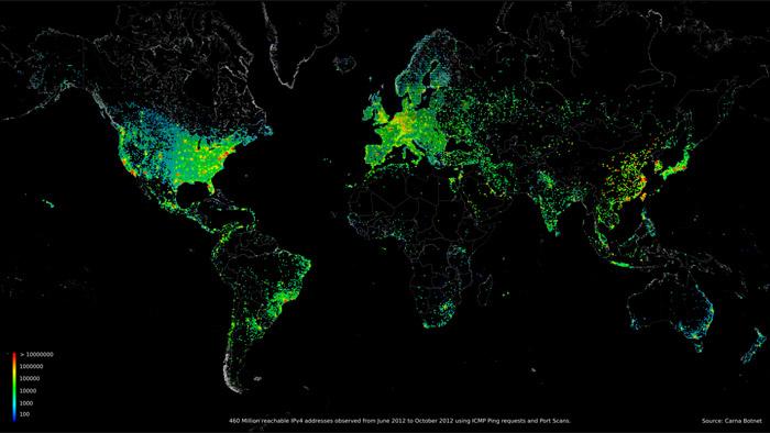 La carte des 450 millions d'adresses