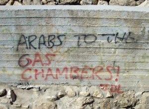 Graffiti raciste à Hébron