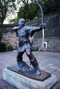 Statue de Robin des bois à Nottingham