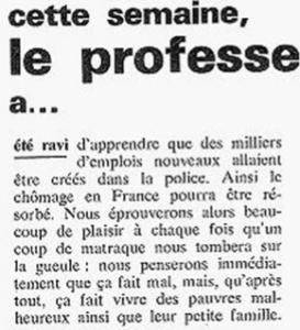 Charlie, 23 novembre 1970