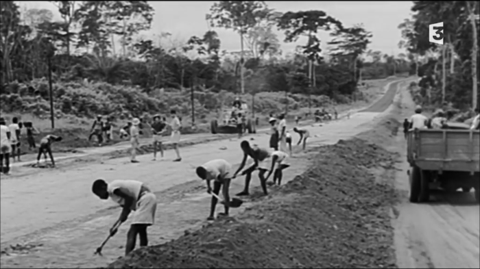 Construction de routes, été 1940